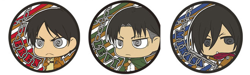 進撃の巨人 ラバーコースター リヴァイ兵長、エレン、ミカサ予約開始!グッズ新作 #shingeki #aot